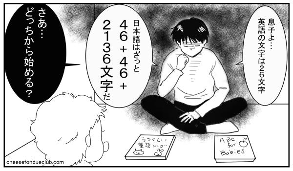 英語の文字は26文字、日本語はざっと46+46+2136文字だ