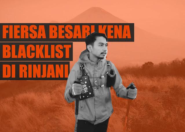 Fiersa Besari Kena Blacklist di Rinjani