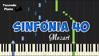 sinfonia 40 mozart piano