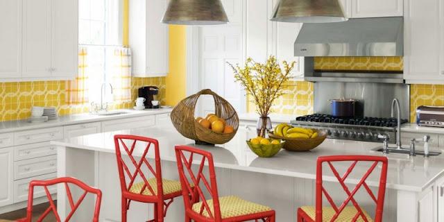 Trang trí phòng bếp bằng hoa quả