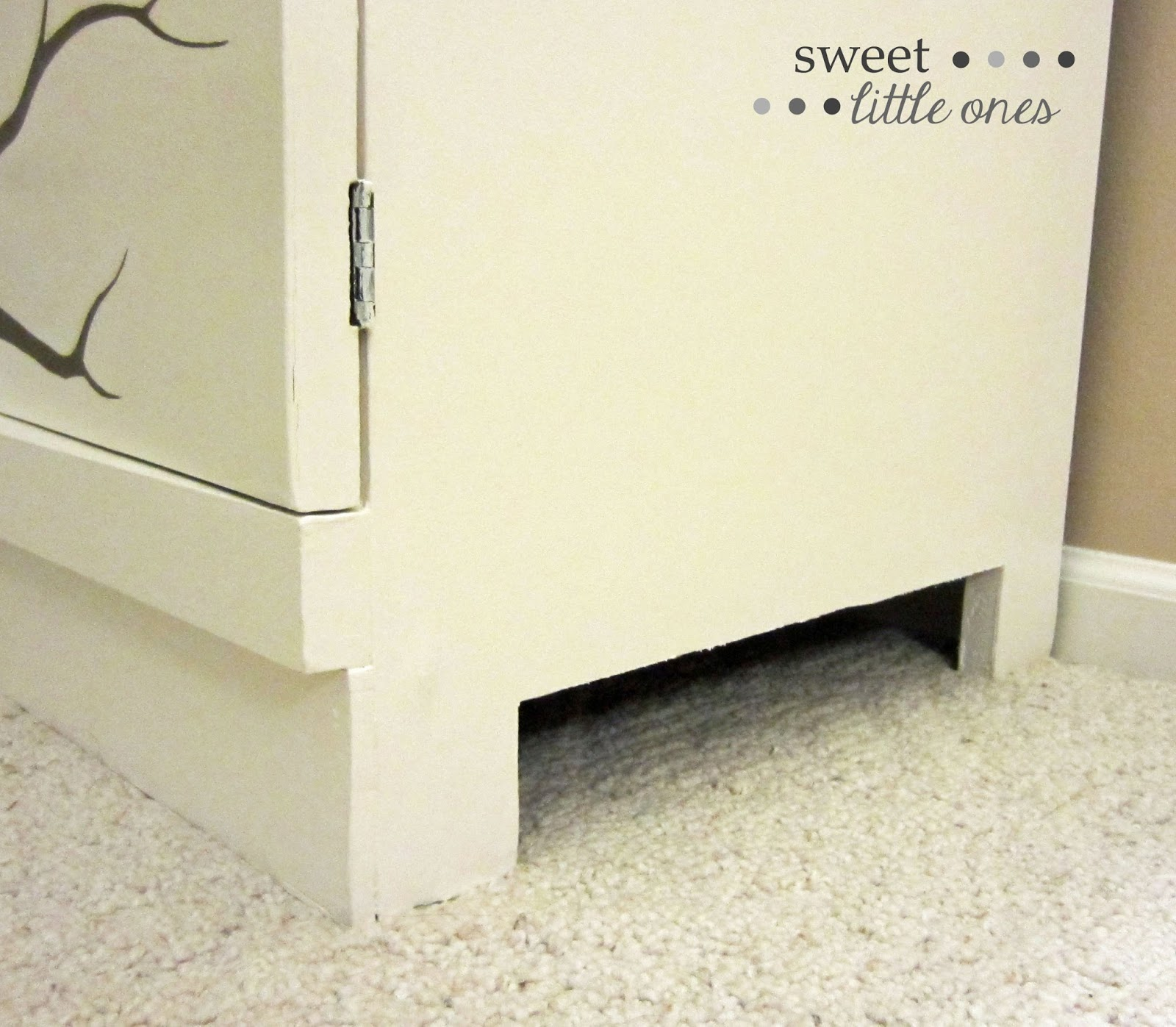DIY Furniture, Dresser Makeover: Hand Painted Tree - www.sweetlittleonesblog.com