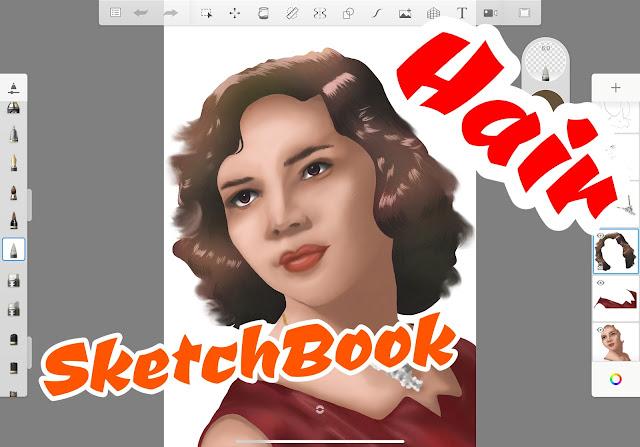 How to Draw Hair in Autodesk SketchBook App
