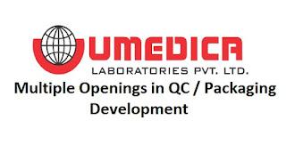 Umedica Laboratories Vapi, Gujarat Job Requirement Walk In Interviews For B.Sc / M.Sc / B.Pharma /  M.Pharm