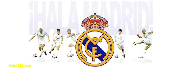 Ảnh bìa Facebook bóng đá - Cover FB Football timeline, Real Madrid