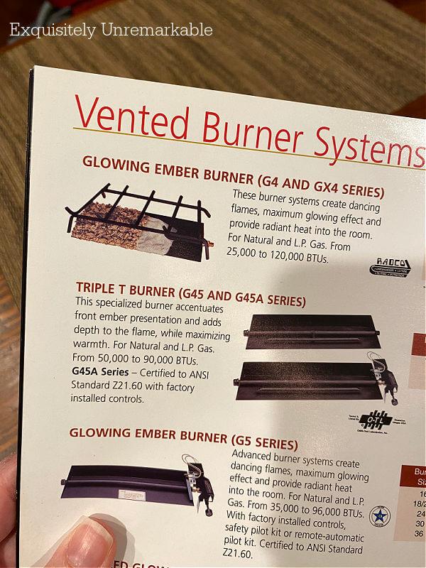 Vented Burner System photos in catalog