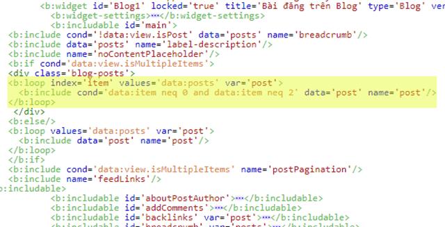 Cách làm ẩn một hoặc một số bài viết theo số thứ tự tại các trang index