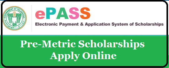 Apply Online for Pre-Metric Scholarships Fresh Registration/Renewal in AP & TS