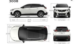 Peugeot 3008-SUV 2017 Dimensioni e Misure bagagliaio