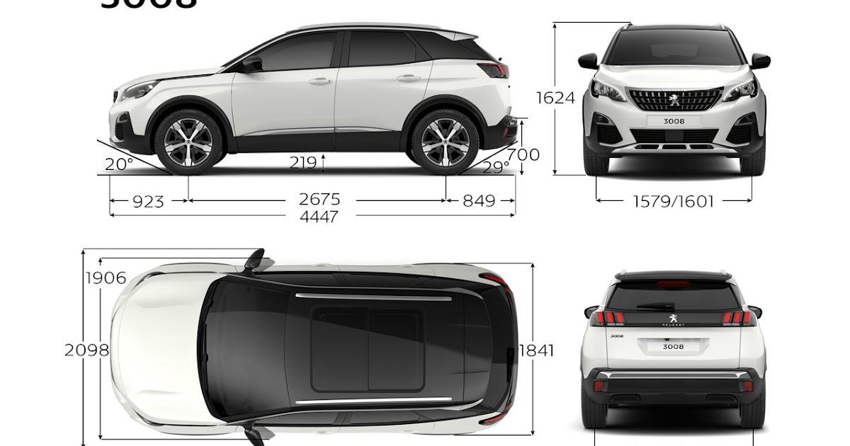 peugeot 3008 suv 2017 dimensioni e misure bagagliaio dmotori prezzi auto uscita dimensioni. Black Bedroom Furniture Sets. Home Design Ideas