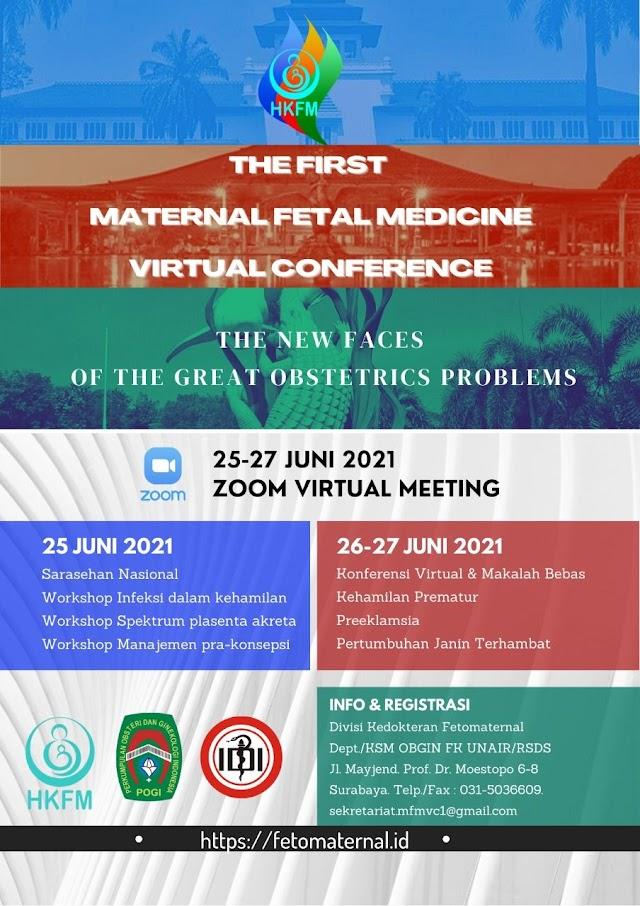 The First Maternal Fetal Medicine Virtual Congress Kongres Virtual Kedokteran Fetomaternal ke-1