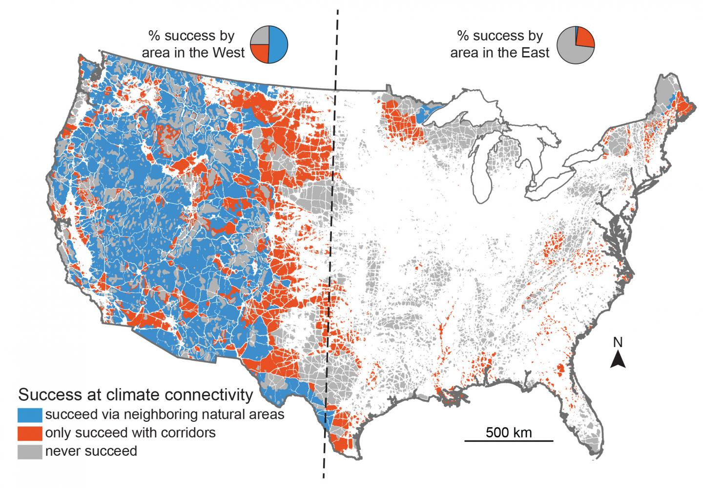 """Climate connectivity corridors"" that help plants & animals for plants and animals to escape climate change"