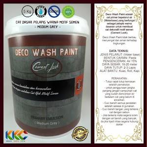 Cat Primer Wash Paint Motif Semen - Medium Grey - Kemasan 5 Kg