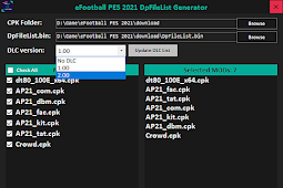 DpFileList Generator & Mod Generator Tool - PES 2021