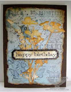 Birthday Card using Tim Holtz stamps and Dies. by Crafty Colonel (Donna Nuce)