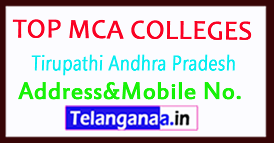 Top MCA Colleges in Tirupathi Andhra Pradesh