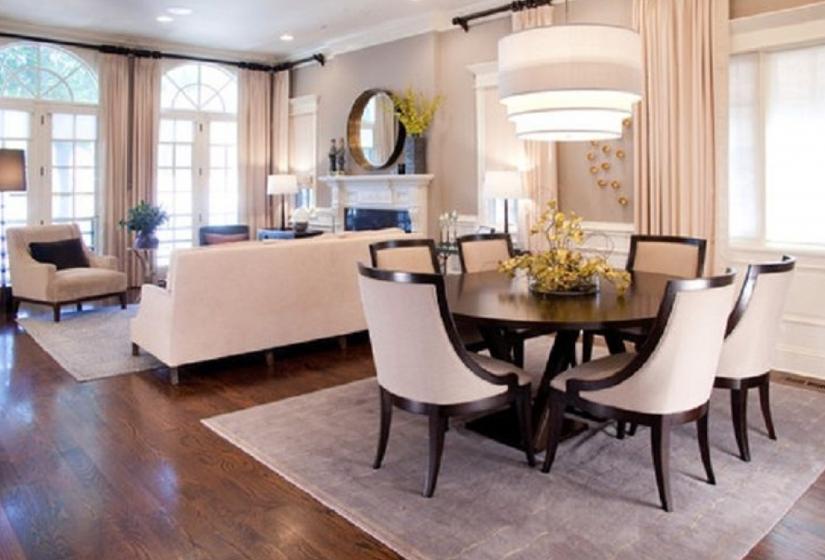 Revista crear ambientes sala comedor for Sala grande