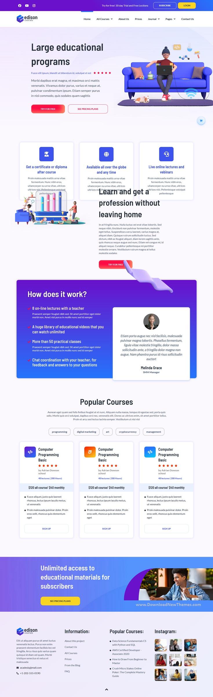 Online Education Elementor Template Kit