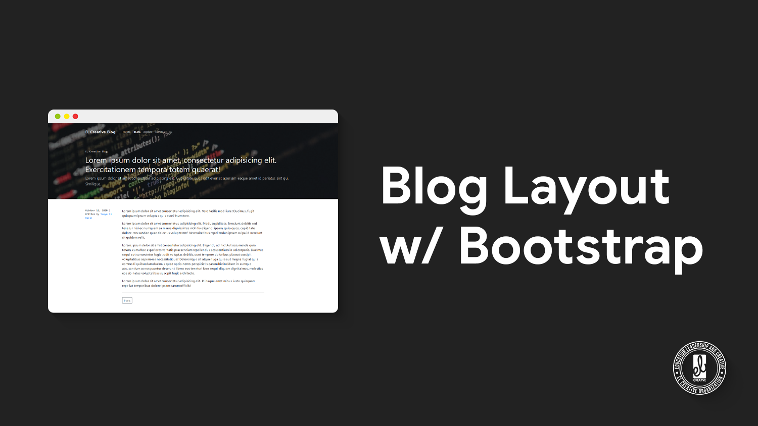 Blog Layout with Bootstrap