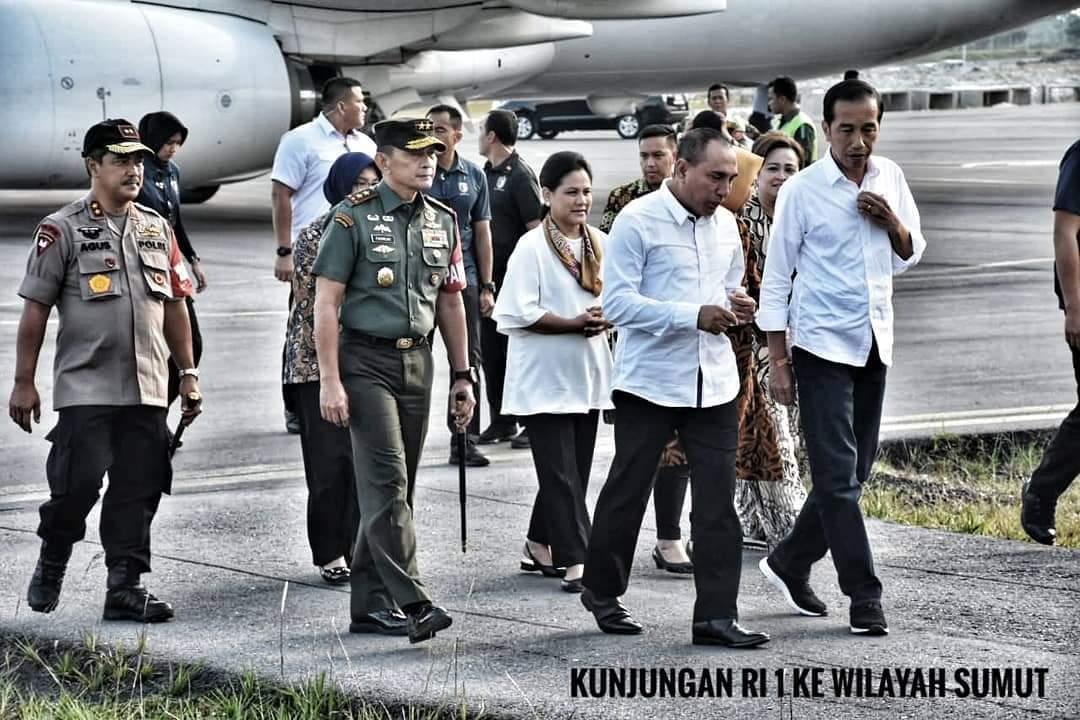 Pangdam I/BB Dampingi Kunjungan Jokowi di Tapanuli
