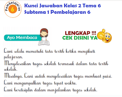 Kunci Jawaban Tematik Kelas 2 Tema 6 Subtema 1 Pembelajaran 6 www.simplenews.me