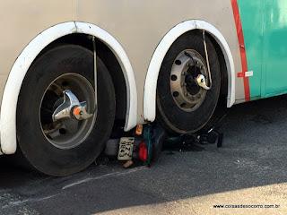 Motociclista morre atropelado por ônibus no bairro Santo Antônio em Aracaju