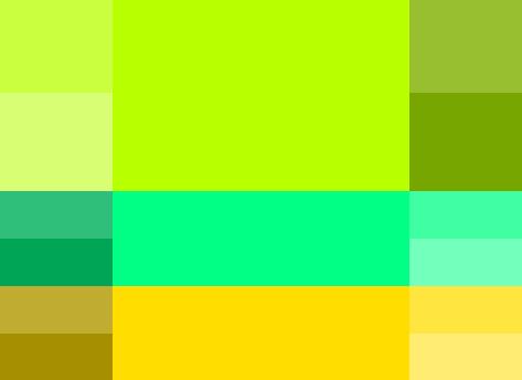opciones paleta de colores para blog colores calidos análogos verde