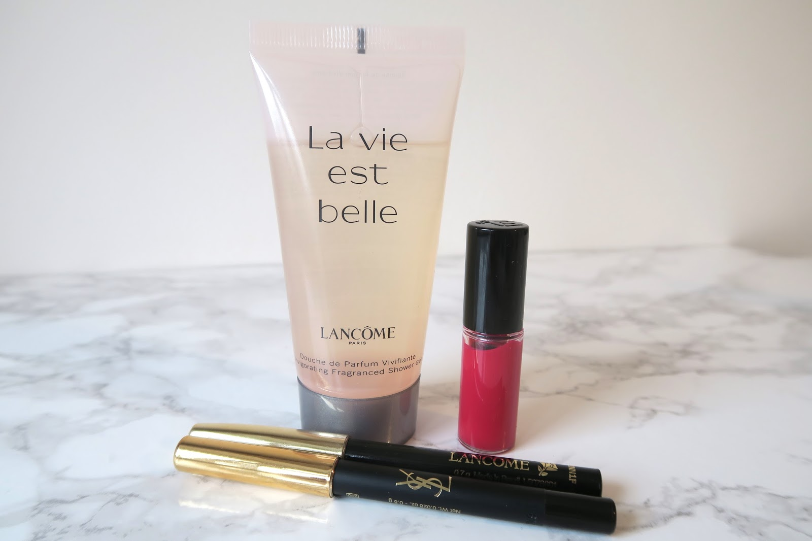 Lancome and YSL make up and shower gel