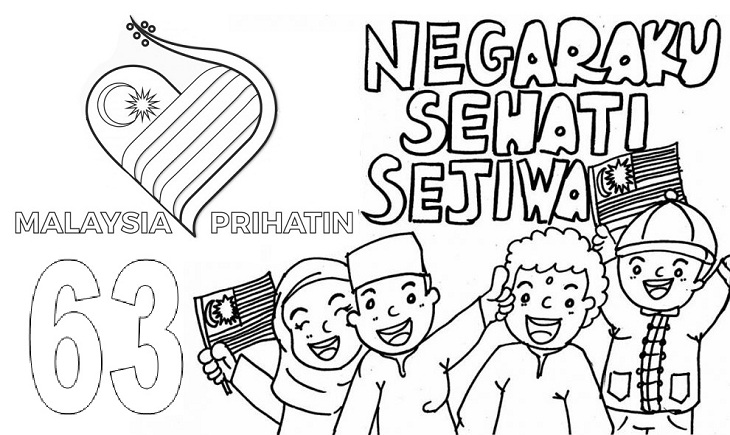 Gambar Mewarna Logo Malaysia Prihatin