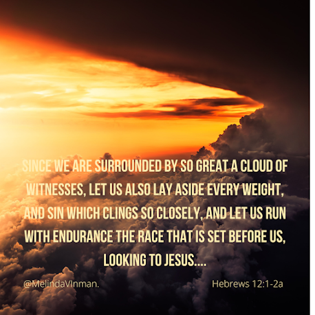 Meme of Hebrews 12: 1-2