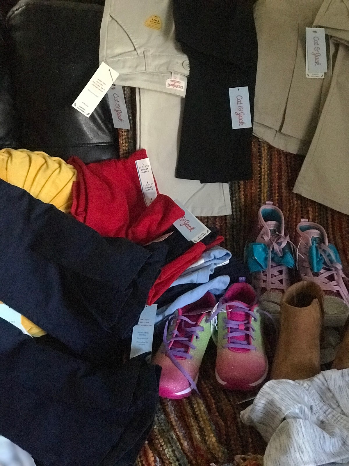Image: All the things that were purchased by Tangie Bell for back to school shopping.