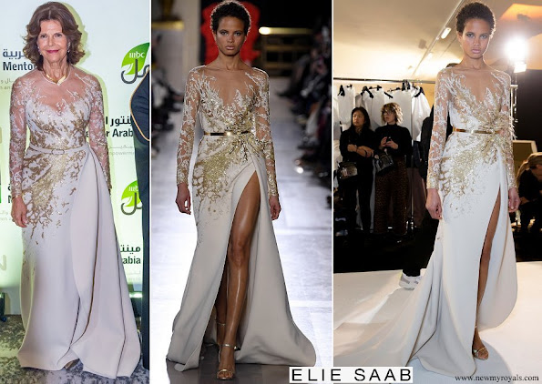 Queen Silvia wore Elie Saab gown from Elie Saab Couture Spring 2019