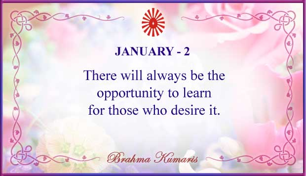 Thought For The Day January 2