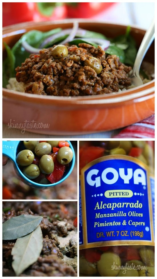 Crock Pot Picadillo from Skinnytaste featured on SlowCookerFromScratch.com