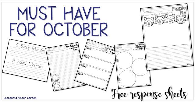 Free October reading responses
