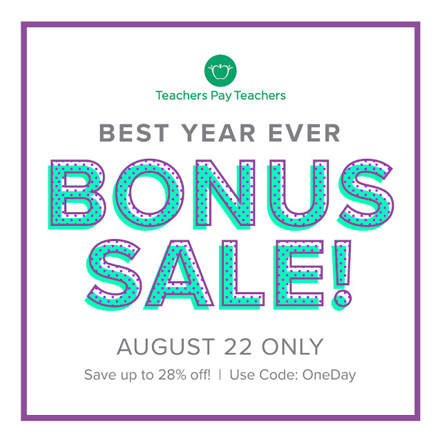 The TPT One Day Bonus Sale is Here - Save 28% on all iHeartLiteracy Resources!
