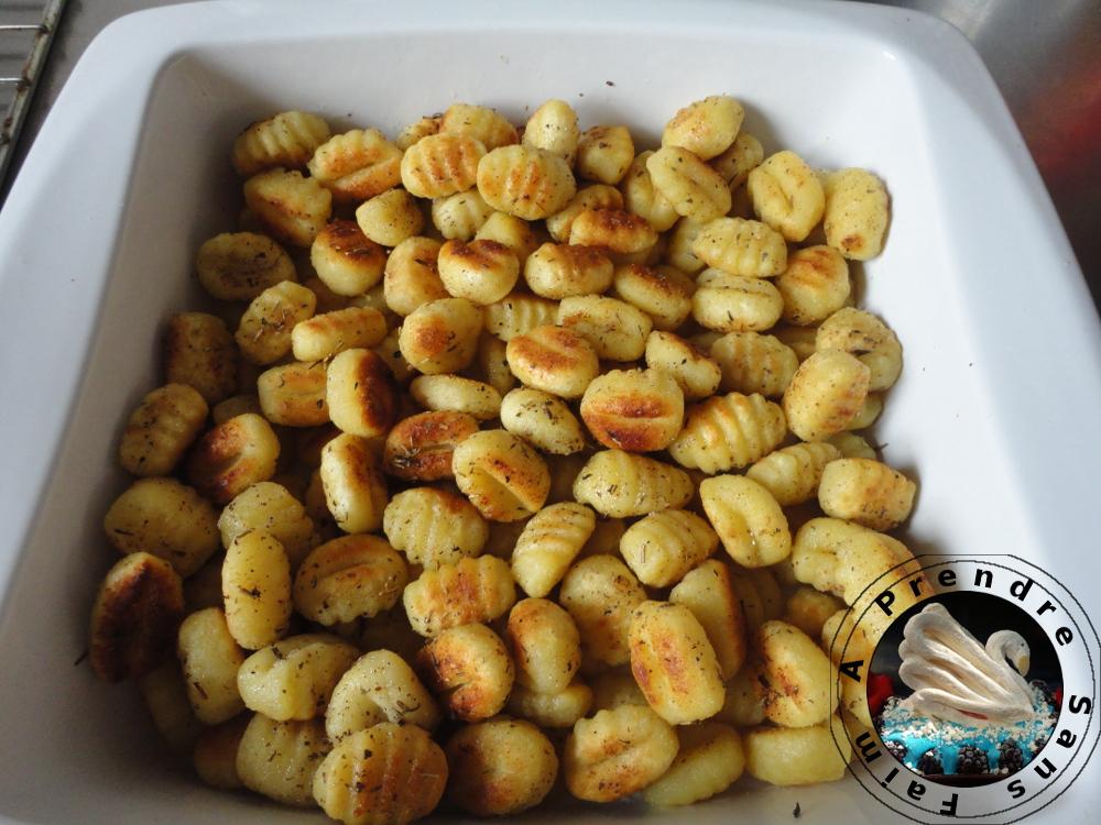Gnocchis italiens fait maison au beurre de sauge et citron