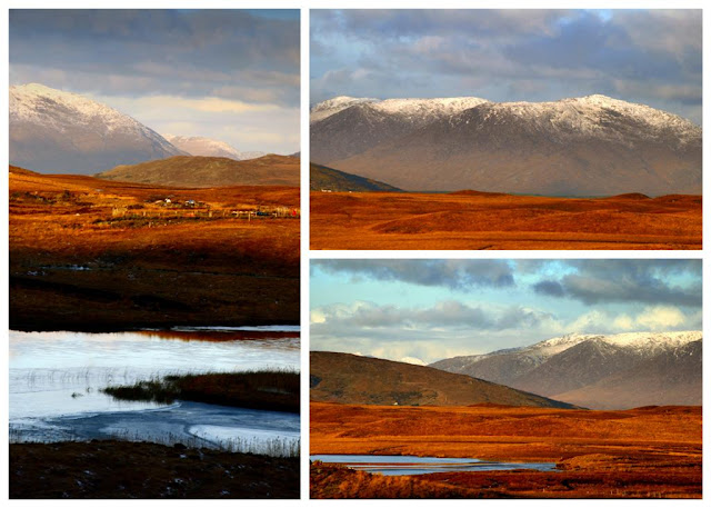 Connemara collage © Annie Japaud Photography, landscape, mountains, golden,
