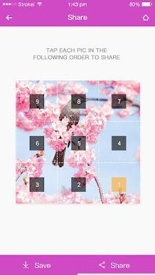 تطبيق 9 Cut For Instagram لتقسيم الصور في انستقرام
