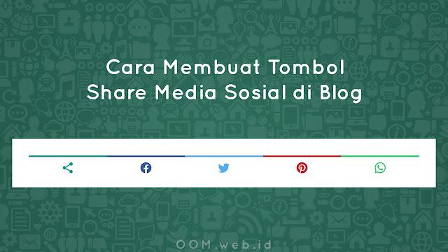 Cara Mengganti Tombol Share Media Sosial di Blog