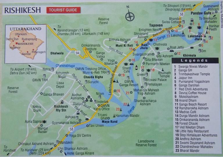 tourist map of rishikesh