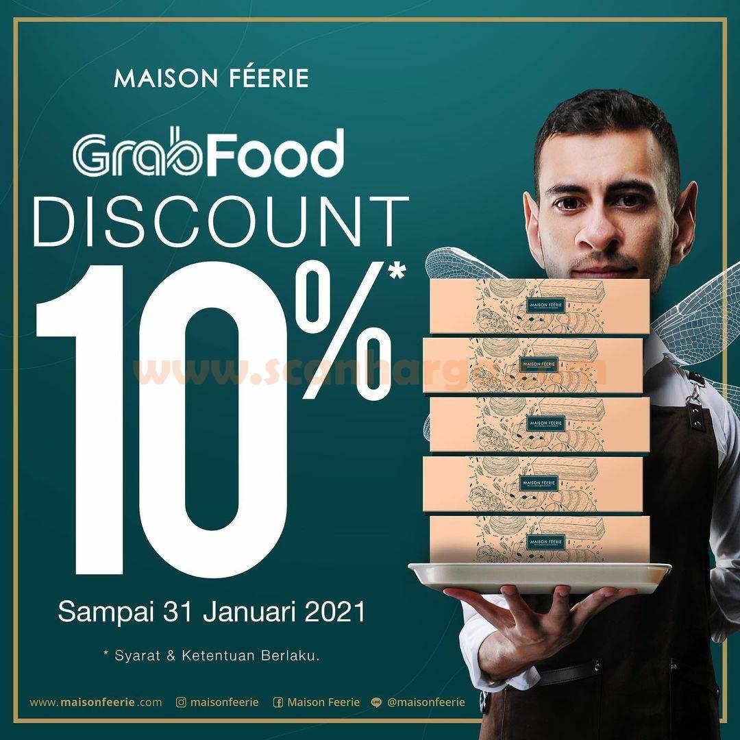Maison Feerie Promo Diskon 10% khusus pemesanan via GRABFOOD