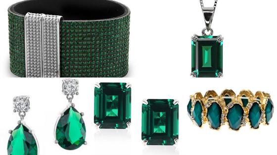 joias verde esmeralda