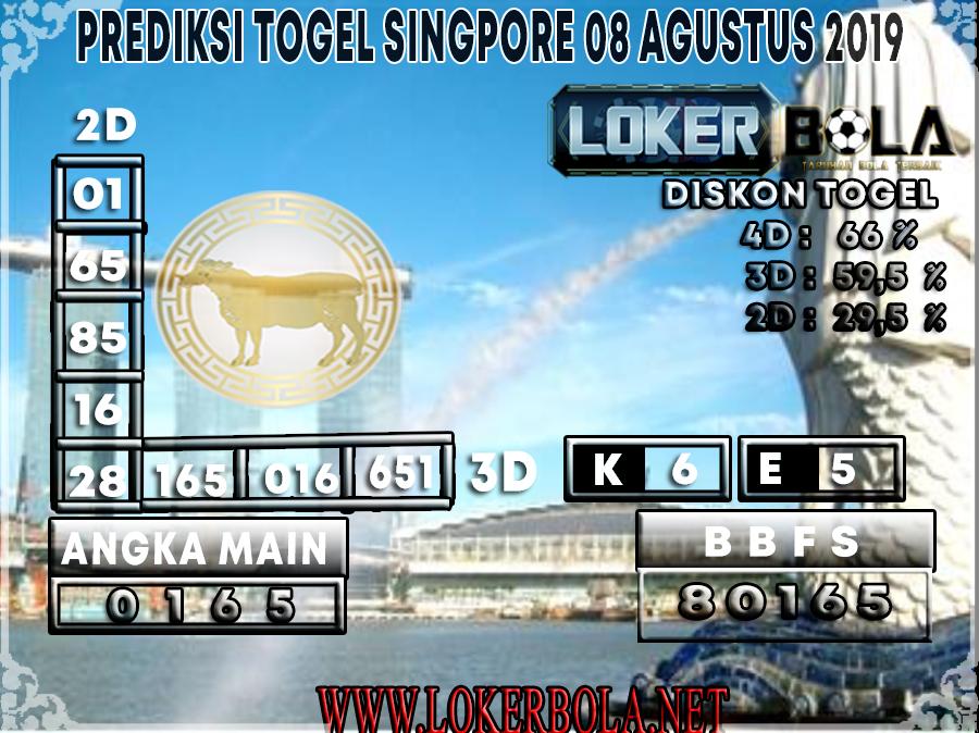 PREDIKSI JITU SINGAPORE LOKERBOLA 08 AGUSTUS 2019