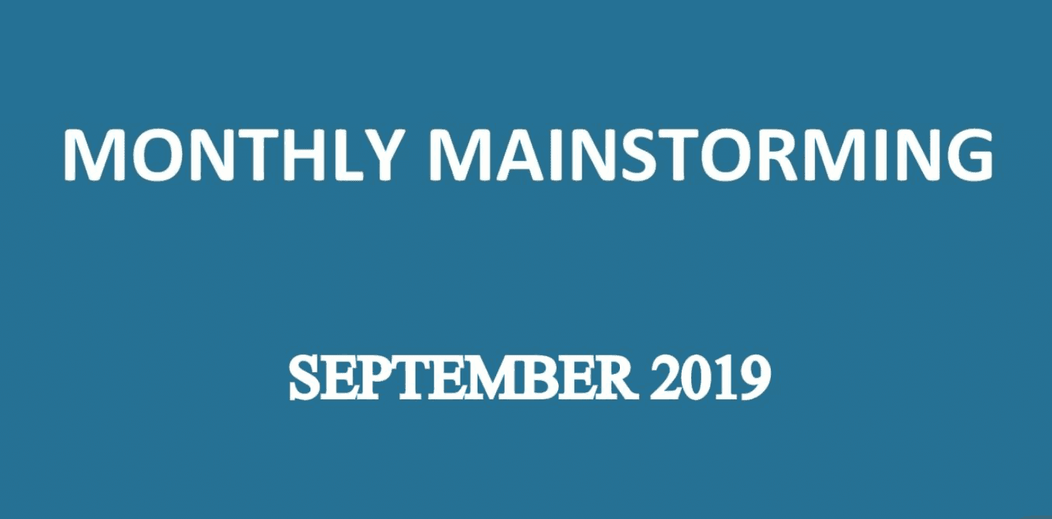 UPSC Mainstorming - September 2019