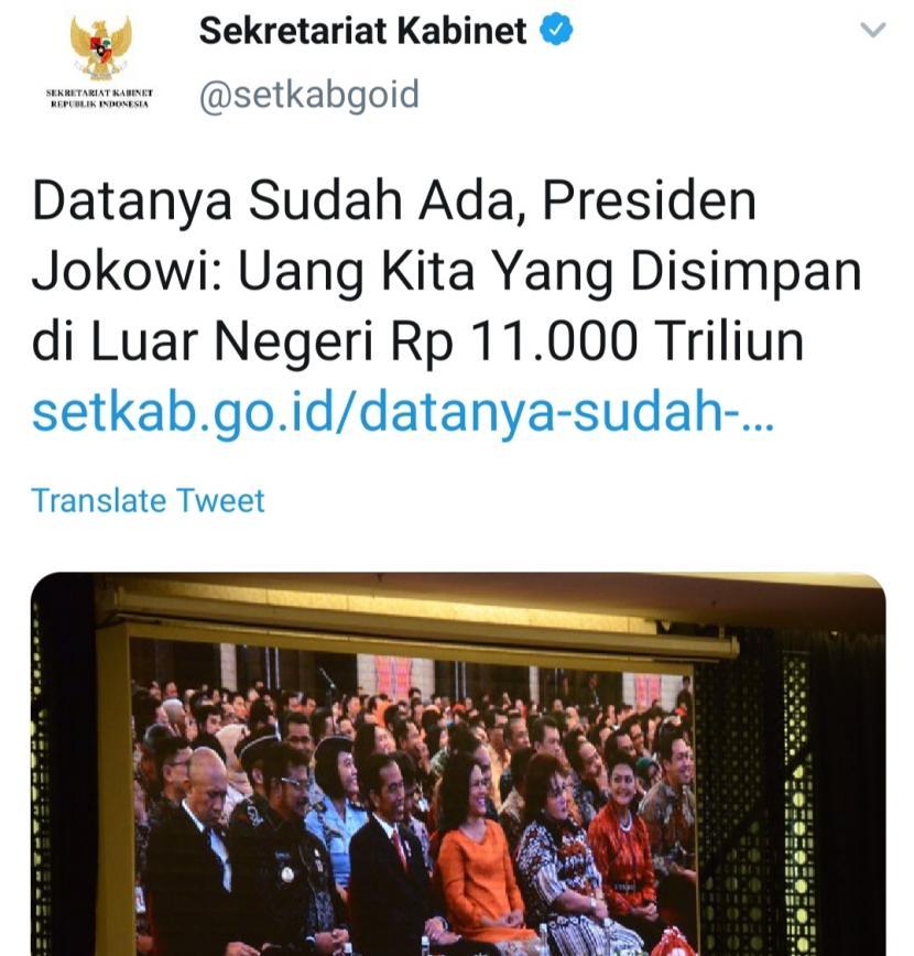 Kominfo Klarifikasi 'Lenyapnya' Berita Jokowi Kantongi Rp 11 Ribu Triliun di Situs Resmi Setkab