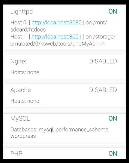 How to install WordPress locally on Android Smartphone