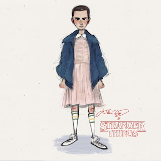 stranger things eleven illustration j shari ewing