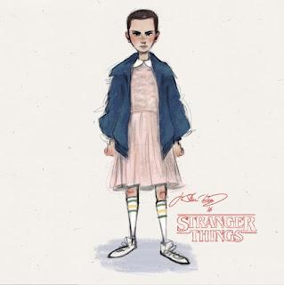 stranger things eleven illustration j shari ewing
