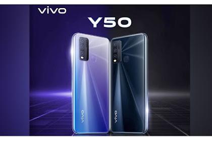 Vivo Mengeluarkan Vivo Y50 Menggunakan Layar Ultra O dan Baterai Besar