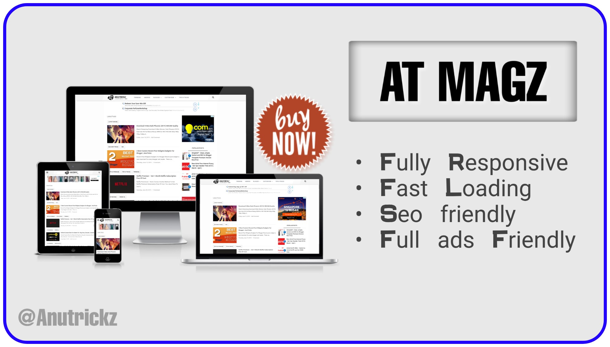 ATMagz Seo Based Blogger Template
